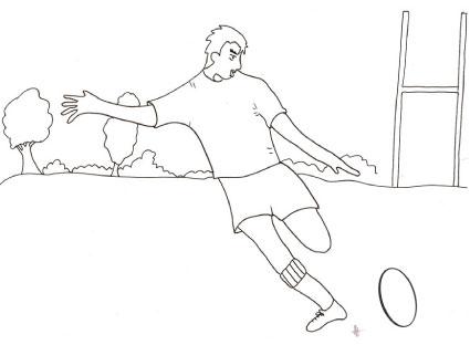 Disegni Da Colorare E Stampare Rugby.Giocatore Di Rugby Da Colorare Cose Per Crescere