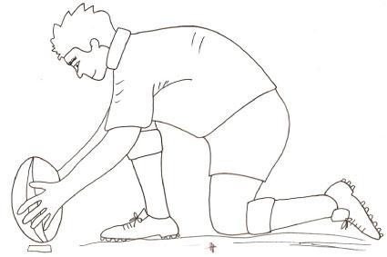 Disegno di giocatore di rugby