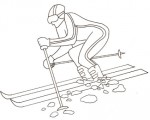 Disegno sullo sci