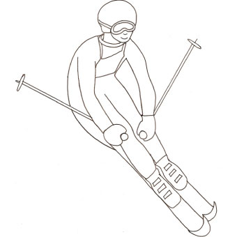 Disegno di sciatore