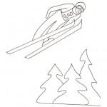 Salto con gli sci da colorare