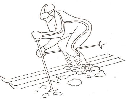 Disegno sullo sci da colorare