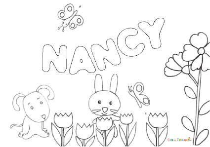 Nome Nancy Da Colorare