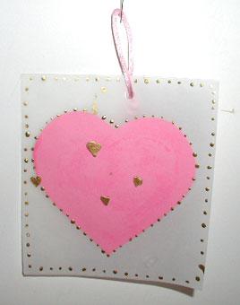 Un cuore delicato in un biglietto