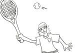 Disegno sul tennis da colorare