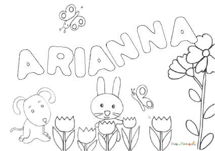 Nome Arianna Da Colorare Disegno Da Stampare Gratis
