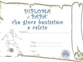 Diploma di papà calciatore