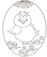 Uovo Di Pasqua Con Pulcino Da Colorare Cose Per Crescere