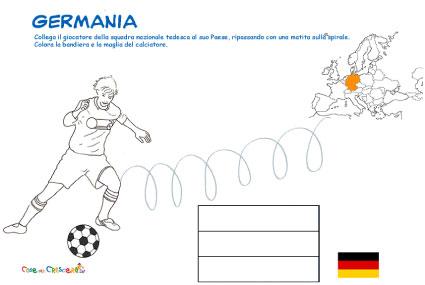 Disegno calciatore Germania da colorare