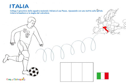 Disegno di calciatore Italia da colorare