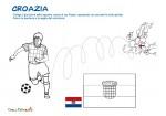 Bandiera e calciatore della Croazia da colorare