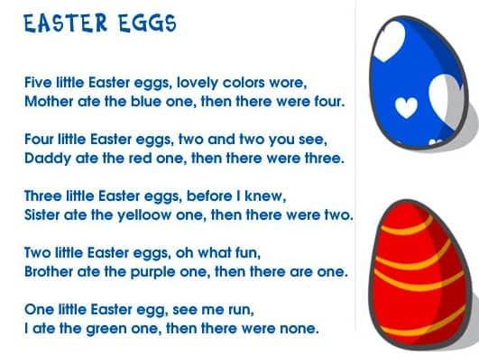 Filastrocca di Pasqua in inglese