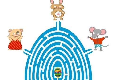Gioco del labirinto pasquale