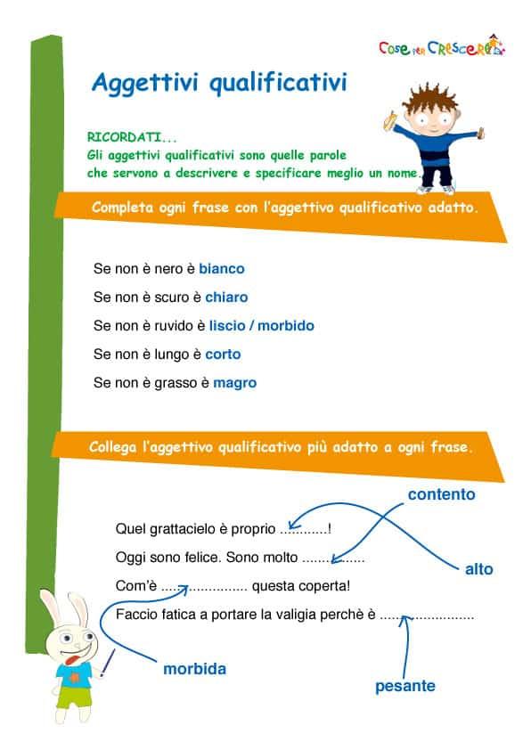 Preferenza Esercizio aggettivi qualificativi scuola elementare KO97
