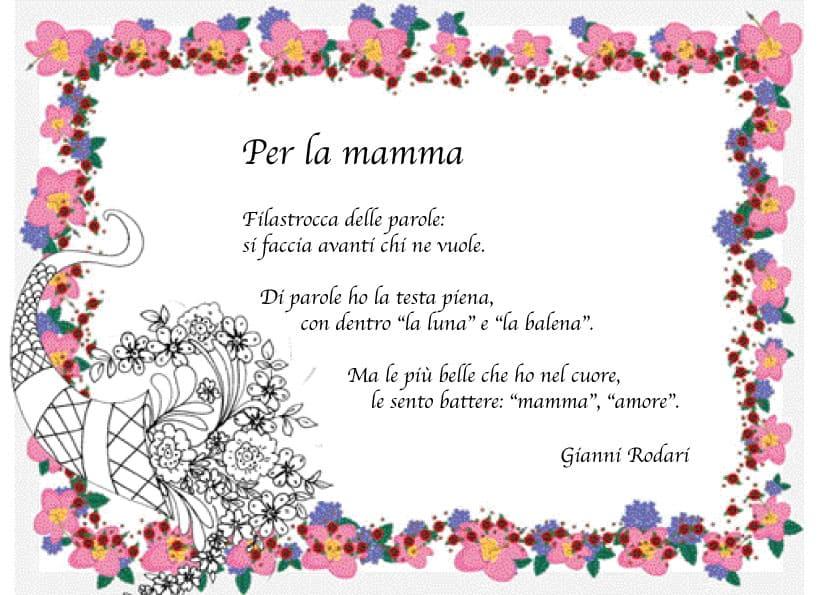 spesso Per la mamma: poesia di gianni rodari WU25