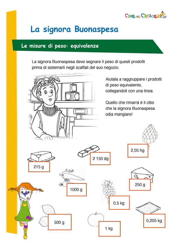 Popolare Esercizio unità misura di peso scuola primaria EA99