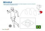 Giocatore del Brasile da colorare