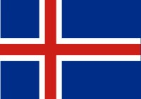 Dell islanda la bandiera islandese come altre bandiere con la croce