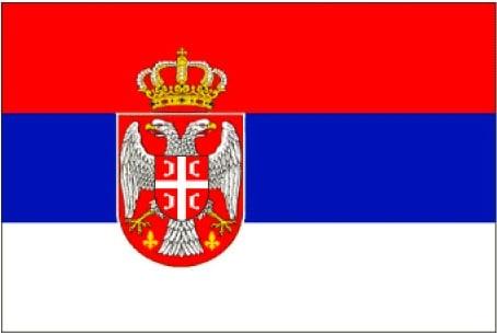 Bandiera della Serbia