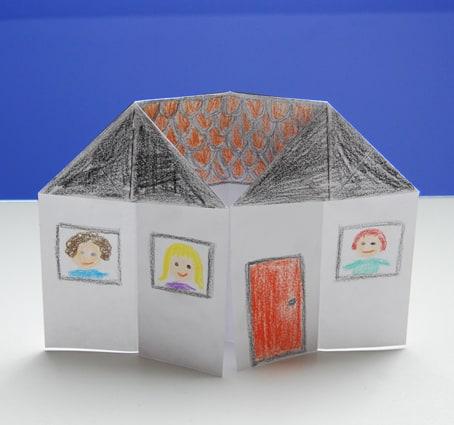 Casa di carta per bambini for Come progettare la mia casa