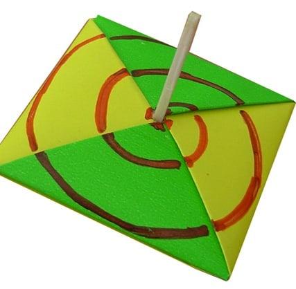 Trottola di carta in origami