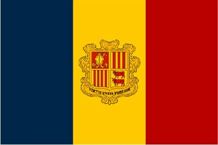 Bandiera dell' Andorra