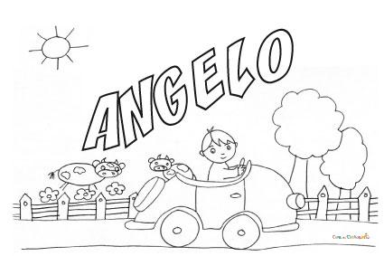 Nome Angelo da colorare