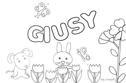 Nome Giusy da colorare