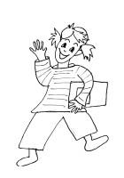 Disegno Di Bambina Con Libro Cose Per Crescere