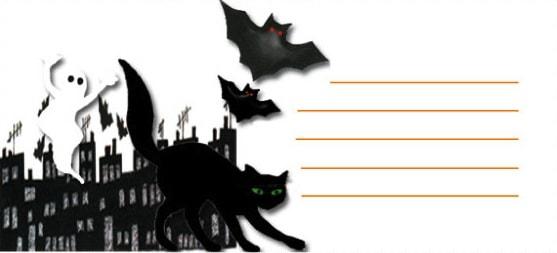 Biglietto per Halloween per bambini da stampare