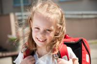 Beautiful little schoolgirl