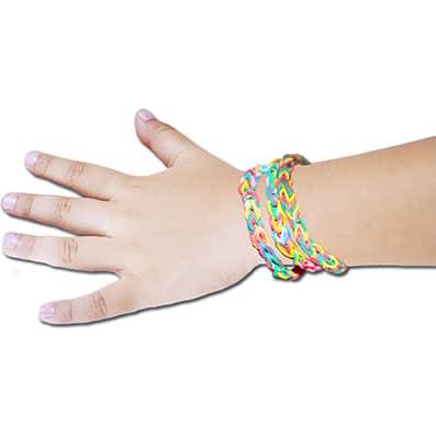 Braccialetto con gli elastici: il braccialetto loom