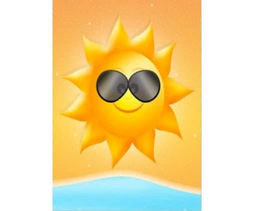 Cartolina delle vacanze da stampare