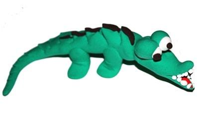 modellare animali : coccodrillo