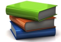 3d illustration of colorful books