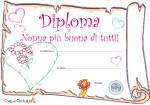 Diploma di Nonna più buona di tutti