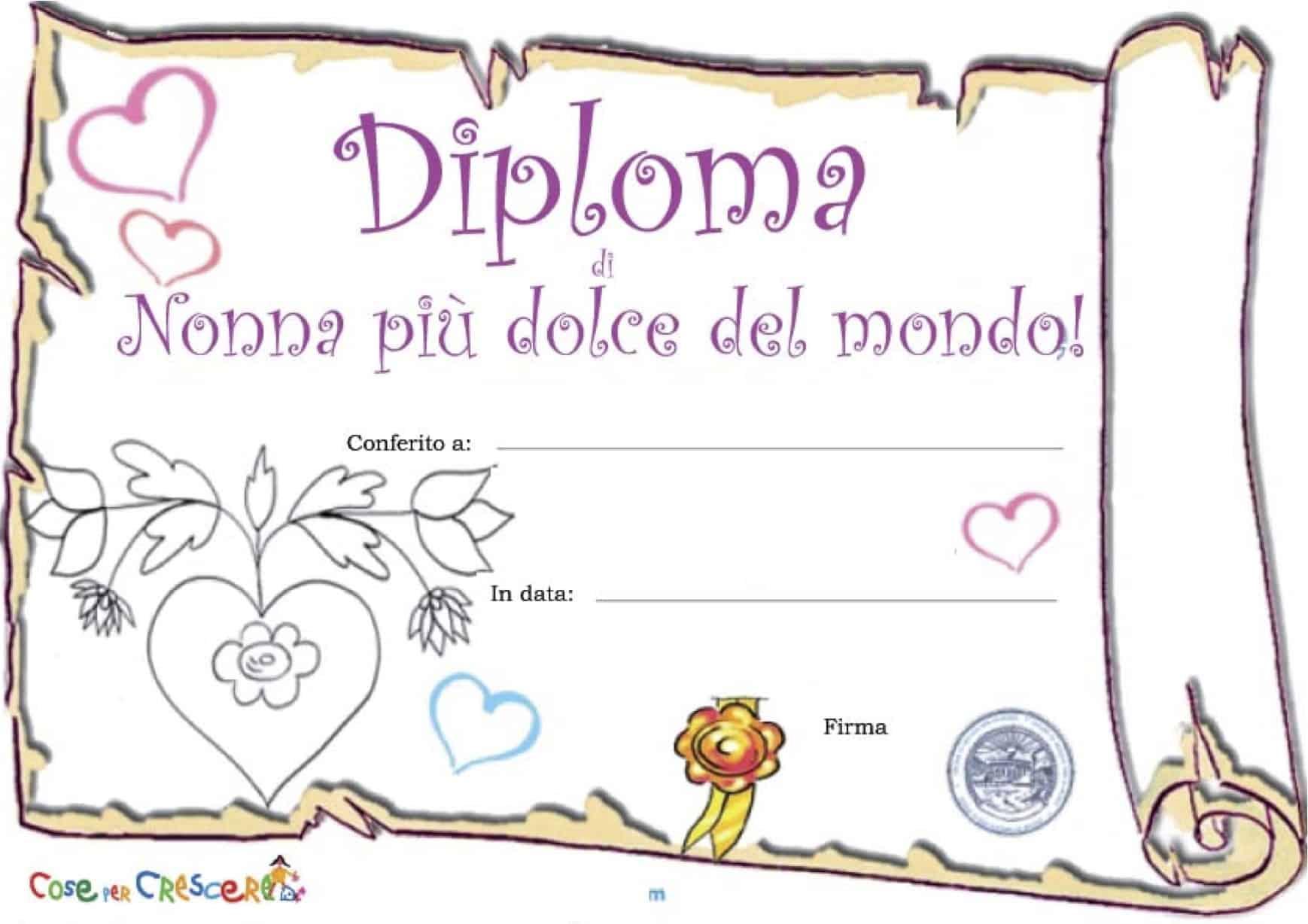 Diploma per la nonna