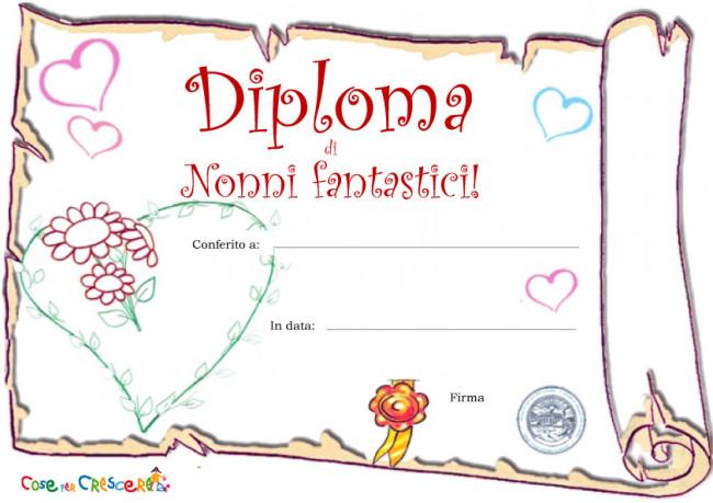 Diploma per i nonni - diploma di nonni fantastici