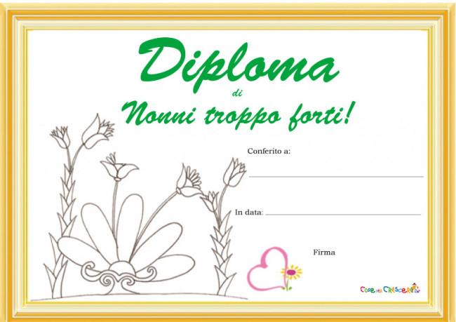 Diploma da stampare per i nonni