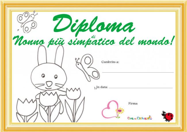 Super Diploma per un nonno simpaticissimo! - Cose Per Crescere AI55
