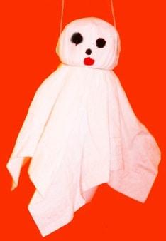 Fantasma da costruire - Lavoretto per Halloween