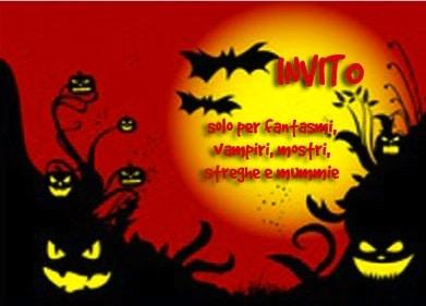 Biglietto invito festa Halloween per bambini