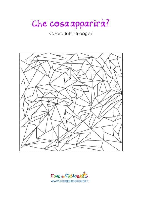 Gioco colora le forme per bambini