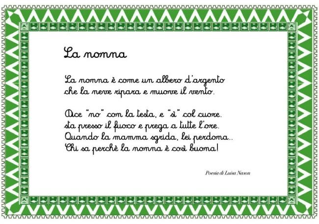 Favorito Poesia per la nonna - Cose Per Crescere NV34