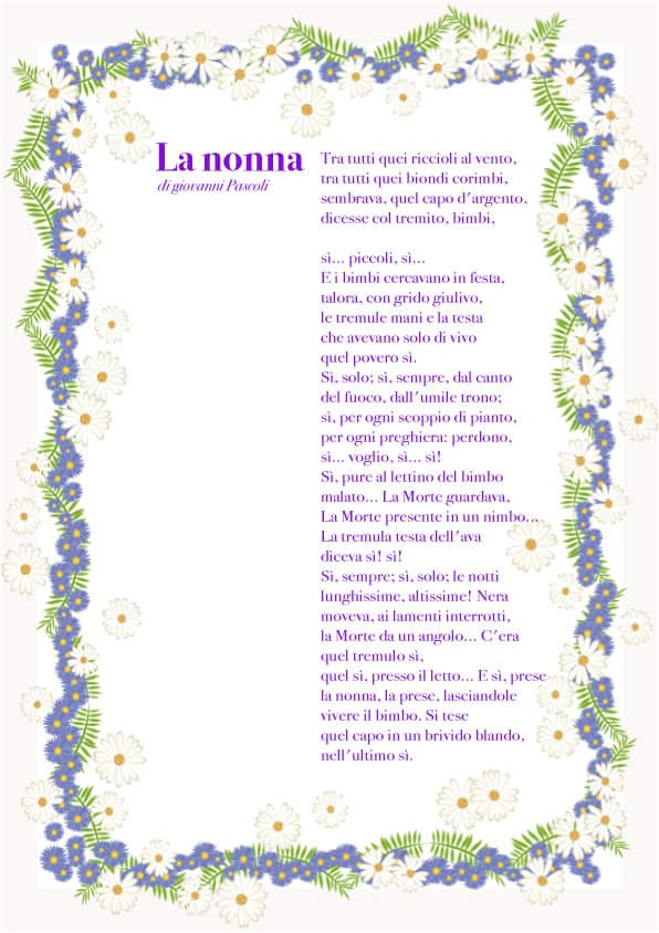 Connu La nonna: di Giovanni Pascoli - Cose Per Crescere FT18