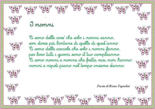 Ben noto Poesia per i nonni da stampare EP67