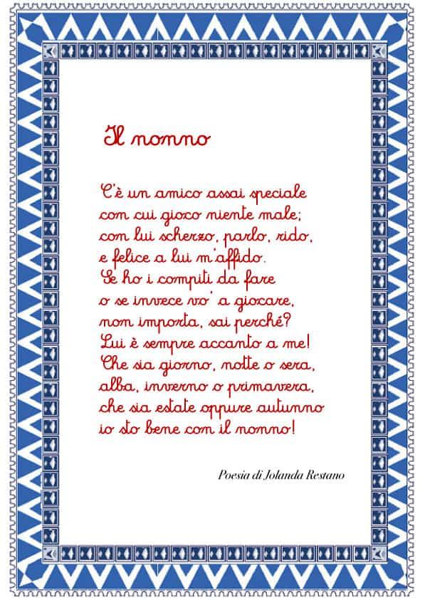 Poesia per il nonno