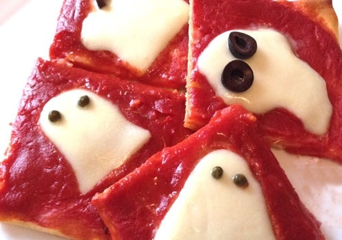 Pizza fantasmi per Halloween