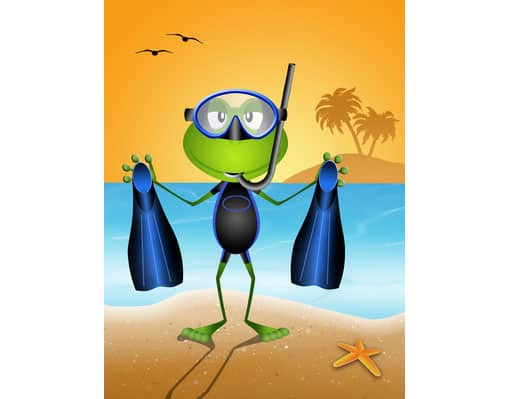 Cartolina vacanze al mare da stampare