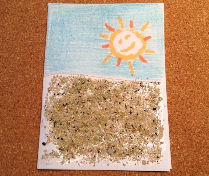 Cartolina con la sabbia